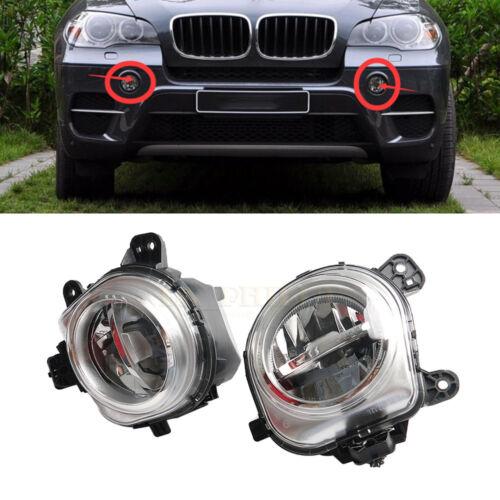 For BMW X3 F25 X4 F26 X5 F15 F85 X6 F16 Front Bumper Fog Light Lamp LED Pair