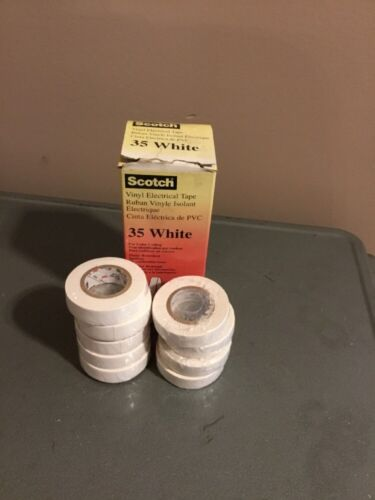 3M 35-White-1//2x20FT 1//2 in x 20 ft Scotch Lot Of 9
