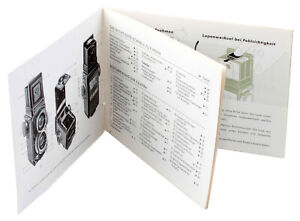 Anleitung f. Rolleiflex 4x4 = ORIGINAL = Rollei Germany INSTRUCTION cond. A/B !