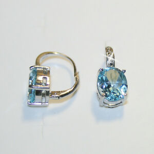 6-25ct-Oval-Blue-Topaz-Tiny-Diamond-Leverback-Earring-14k-White-Gold-over-925-SS