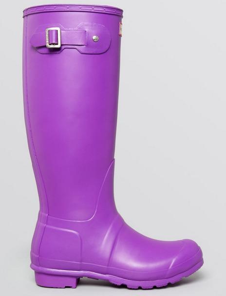 HUNTER ORIGINAL TALL RAIN BOOTS NEON PURPLE **SUPER RARE**!!! NIB WOMENS 10