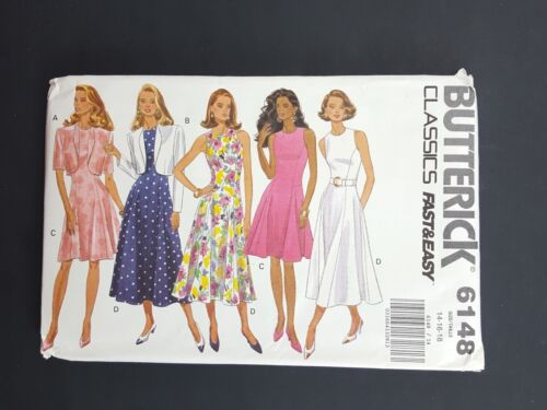 Butterick Classics Sewing Pattern 6148 Dress and Jacket 14 16 18 NEW UNCUT VTG