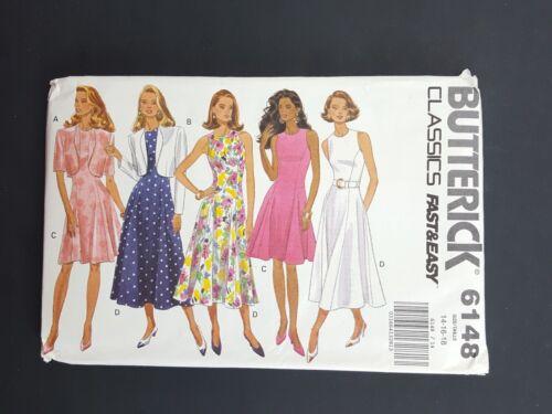Butterick Classics Sewing Pattern 6148 Dress and Jacket 14 16 18 NEW UNCUT VTG