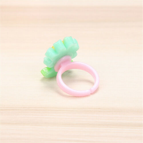 10Pcs Lovely Mixed Lots Cute Cartoon Children//Kids Resin Rings Jewelry GiftRDUK