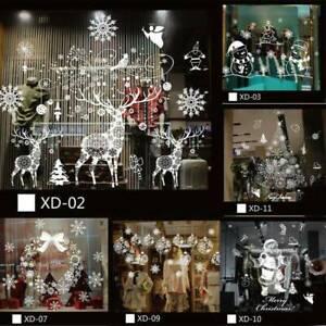 Christmas-Decor-Snowflakes-Santa-Claus-Wall-Vinyl-Stickers-Art-Window-Xmas-Decal