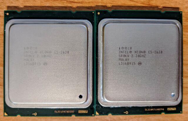 2 x Intel Xeon E5-2630 SR0KV 2.3GHz 6-Core/12 Thread LGA 2011 CPU Processor