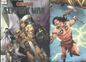 CONAN-SERPENT-WAR-1-1ST-PRINT-amp-CONNECTING-VARIANT-COVER-SET-NM