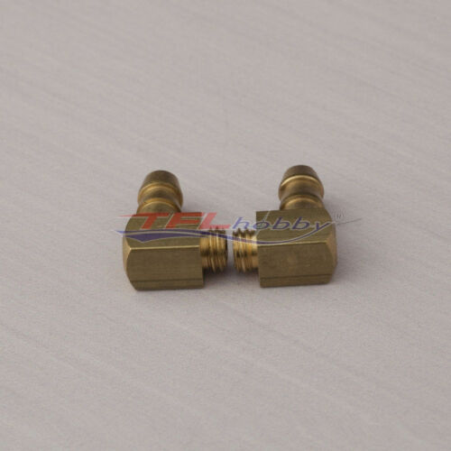 2PCS 90 Degree Brass M6 Threaded Water Nipple for RC Boat RC#152