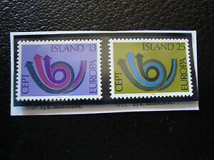 Iceland-Stamp-Yvert-and-Tellier-N-424-425-N-A22-Stamp-Iceland