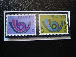 Island-Briefmarke-Yvert-Und-Tellier-N-424-425-N-A22-Briefmarke-Iceland