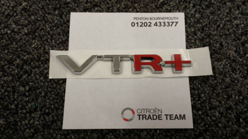 Genuine Citroen C4 /& Picasso VTR Self Adhesive Badge Logo Chrome /& Red  CIT8777
