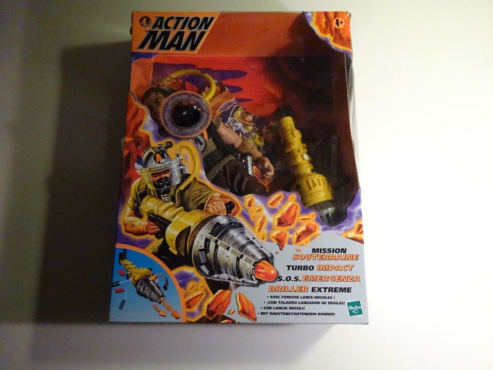 Action Man Mission Souterraine Turbo Impact Emergenza Driller Extreme Hasbro Rar