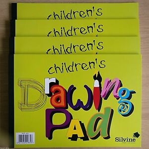 4x NEW - CHILDREN'S DRAWING PAD - Sketch Art Artist Paper Book - FOUR BOOKS PADS