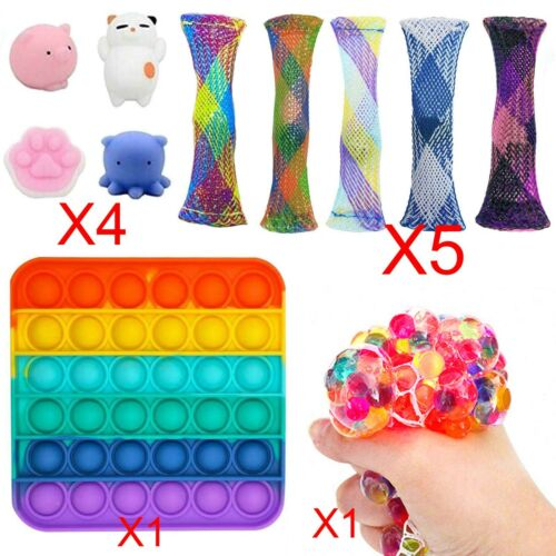 11PCS Vent Toy Kids Children Figit Fidget Toys Stress Relief Sensory Toy Game UK