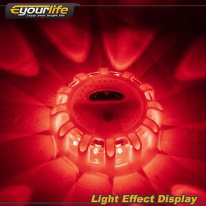 3Pack LED Road Flares Flashing Warning Light Flare Emergency Beacon Magnetic Hot