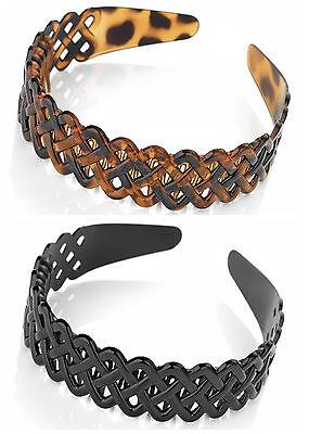3cm Wide Aliceband Headband Plastic Head Band Ladies Girls Hair Black Brown Tort