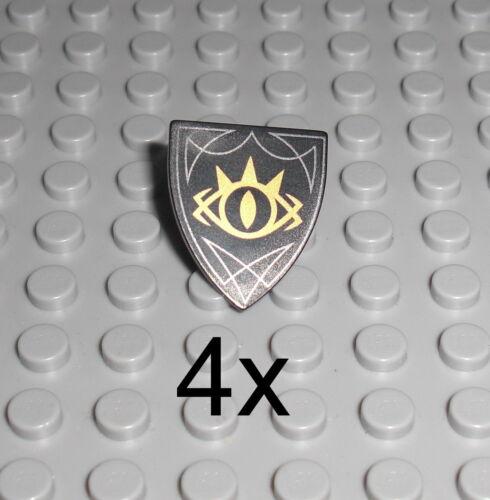 Shield Weapon Hobbit Sauron 41185 LEGO Elves 4x Schild schwarz Goblin König