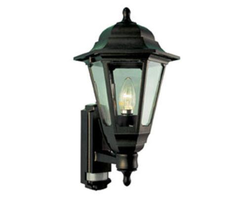 Coach Noir Lanterne avec PIR-Sécurité Lumière 100w extérieure jardin lumière