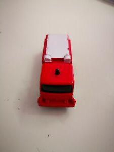 Red-Denver-Pumper-Fire-Truck-Fire-Dept-Maisto-vetrina-modello-da-collezione