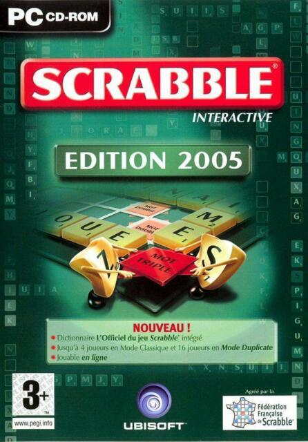 SCRABBLE 2005 / JEU PC / COMPLET / TRÈS BON ETAT / VERSION FRANÇAISE