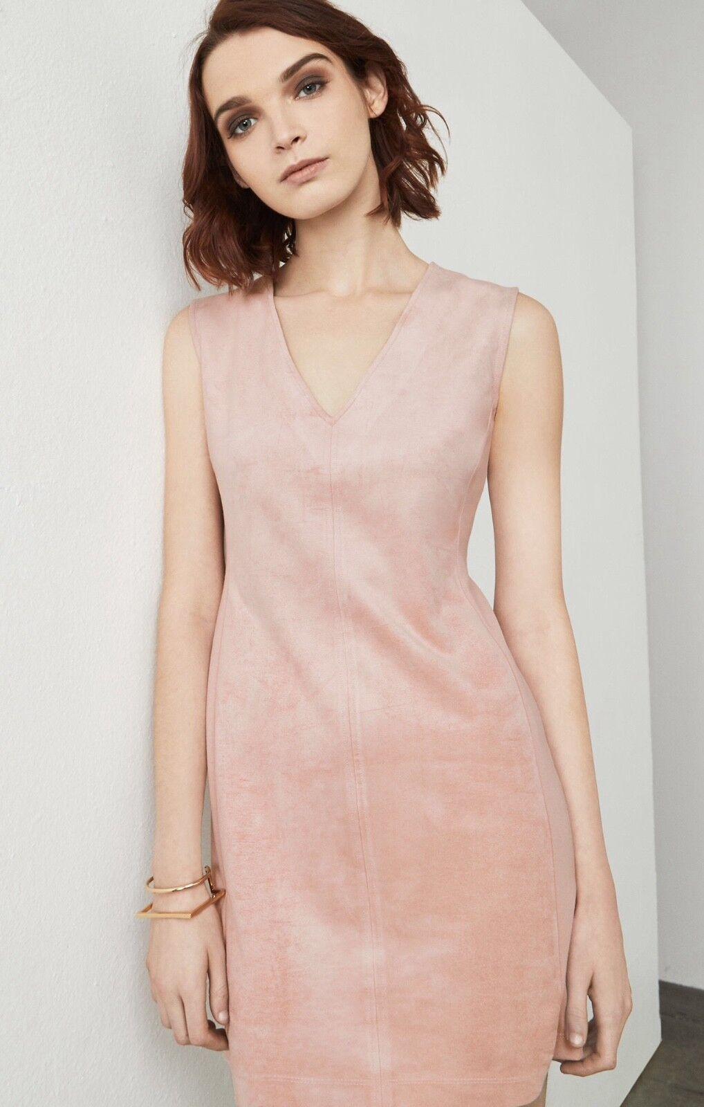 BCBG malina nude pink suede dress, Size XS , NEW. Retail  178