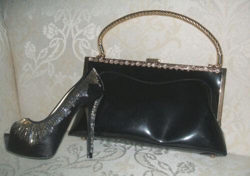 Inspired Leopard khaki Gold black Handbag Black coffee Bag leopard New Designer Print Diamante Large black Patent qUx8E