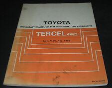 Werkstatthandbuch Toyota Tercel Typ AL25 4WD Allrad 08/1982 Reparaturanleitung