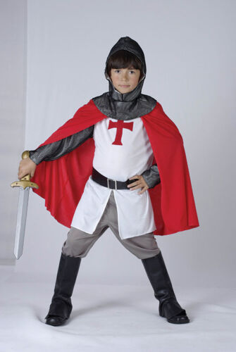 FANCY DRESS KIDS CRUSADER ST GEORGE KNIGHT OUTFIT FITS 4-14