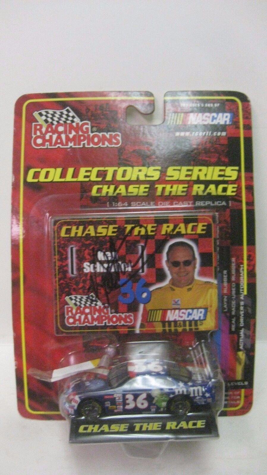 Nascar Chase The Race Ken Schrader Autographed Pontiac 1 64 Diecast NEW dc1382