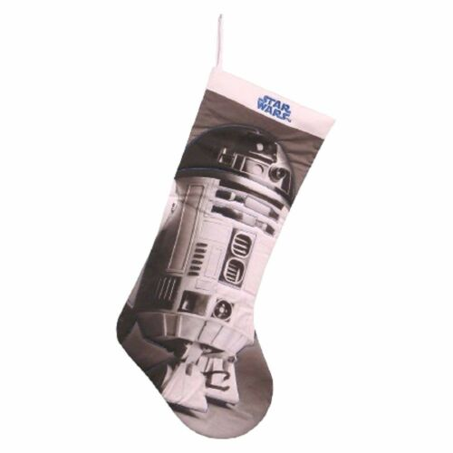 "Star Wars R2D2 Christmas Stocking 19"" Full Size Photo Real Quilted NEW"