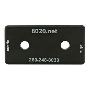 80-20-Inc-40-Series-Black-ABS-Plastic-End-Cap-w-Fastener-for-40-4080-40-2045-N