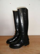 Men's Black Leather CHIPPEWA 27950 Trooper Motorcycle Riding Police Boots 7D USA