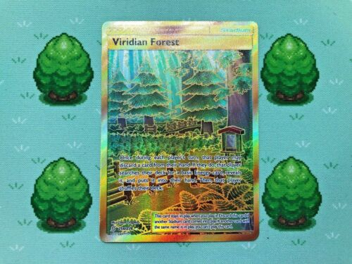 Secret Rare Viridian Forest 256//236 SM Unified Minds Pokemon