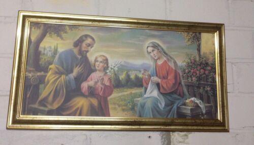 Heilige Familie Bild Jesus Maria Ikonen Gemälde Gold 77x42 Jesus Christus Josef