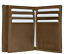 Brown-Men-039-s-Genuine-Leather-ID-Bifold-18-Card-Holder-Center-Flap thumbnail 2