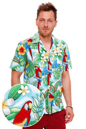 New Hawaiihemd Original Türkis Herren Papagei Für Pla Hqwna8xd