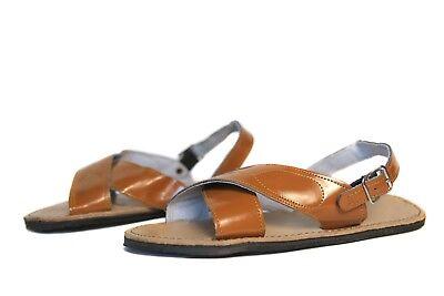 new style b67cc 1d38f RAW & RUSTIC Men's CRUZADO Huaraches w/Buckle - LIGHT BROWN - Mexican  Sandals   eBay