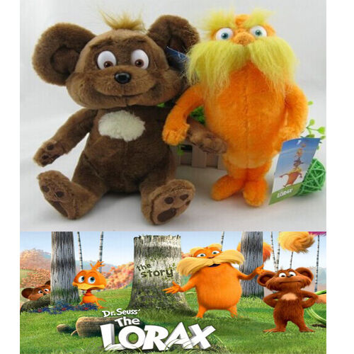Dr Seuss The Lorax Full Movie In English: Set Of 2 Dr. Seuss The Lorax Plush Toy Baby Gift 28cm New