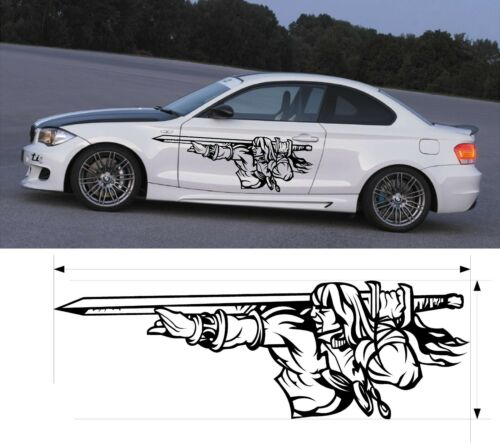 VINYL GRAPHICS DECAL KITS MAN WITH SWORD CAR TRUCK CUSTOM SIZE COLOR F1-45