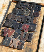 A Z Mixed Alphabet 429 Letterpress Wooden Printing Blocks Type Printer Vintage