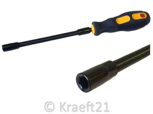 Flex Schraubendreher Steckschlüssel SW 7 mm flexibler Schraubendreher Schelle