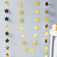 Colorful Bunting Hanging Paper Star Shape Garlands Banner Party Home Decoration