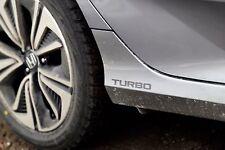 [#291] 2x Silver Turbo for 16 2016 + Honda Civic Car Decal Vinyl Sticker Canada