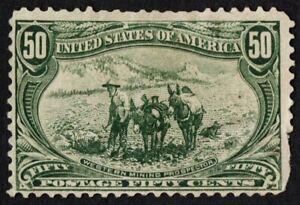 Ee. Uu. Sc# 291 Nuevo Sin Goma H { 50c Oeste Minería Prospector } De 1898 Serie