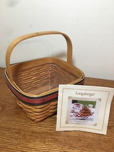 2001-Longaberger-All-American-Collector-Strawberry-Basket-with-Protector