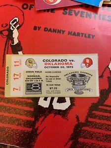 1973 Oklahoma Sooners Colorado Buffaloes Boulder Football ...