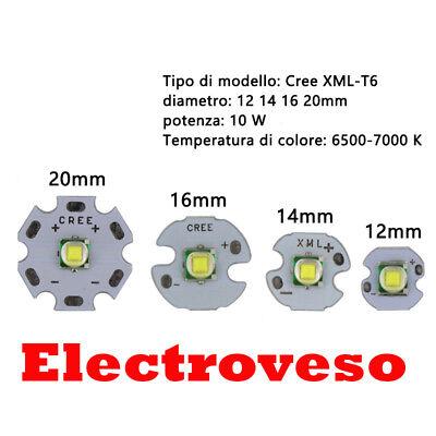 Led chip CREE XM-L T6 LED T6 U2 10 W BLANCO 12mm 14mm 16mm 20mm