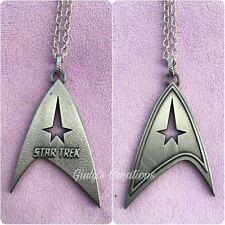 Collana logo STAR TREK simbolo flotta stellare guerre stellari serie tv pianeti