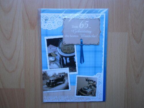 Glückwunschkarte zum Geburtstag alles Gute  Fünfundsechzig 65