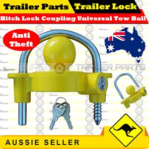 Hitch Lock Coupling Universal Tow Ball Caravan Camping Anti Theft (Trailer Lock)